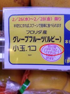 防カビ剤グレープフルーツ