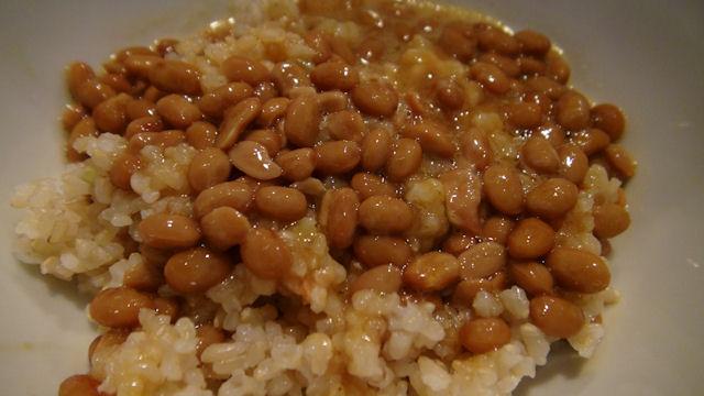 納豆卵玄米