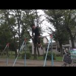 【動画】遊具だから出来るダイナミックな筋トレ